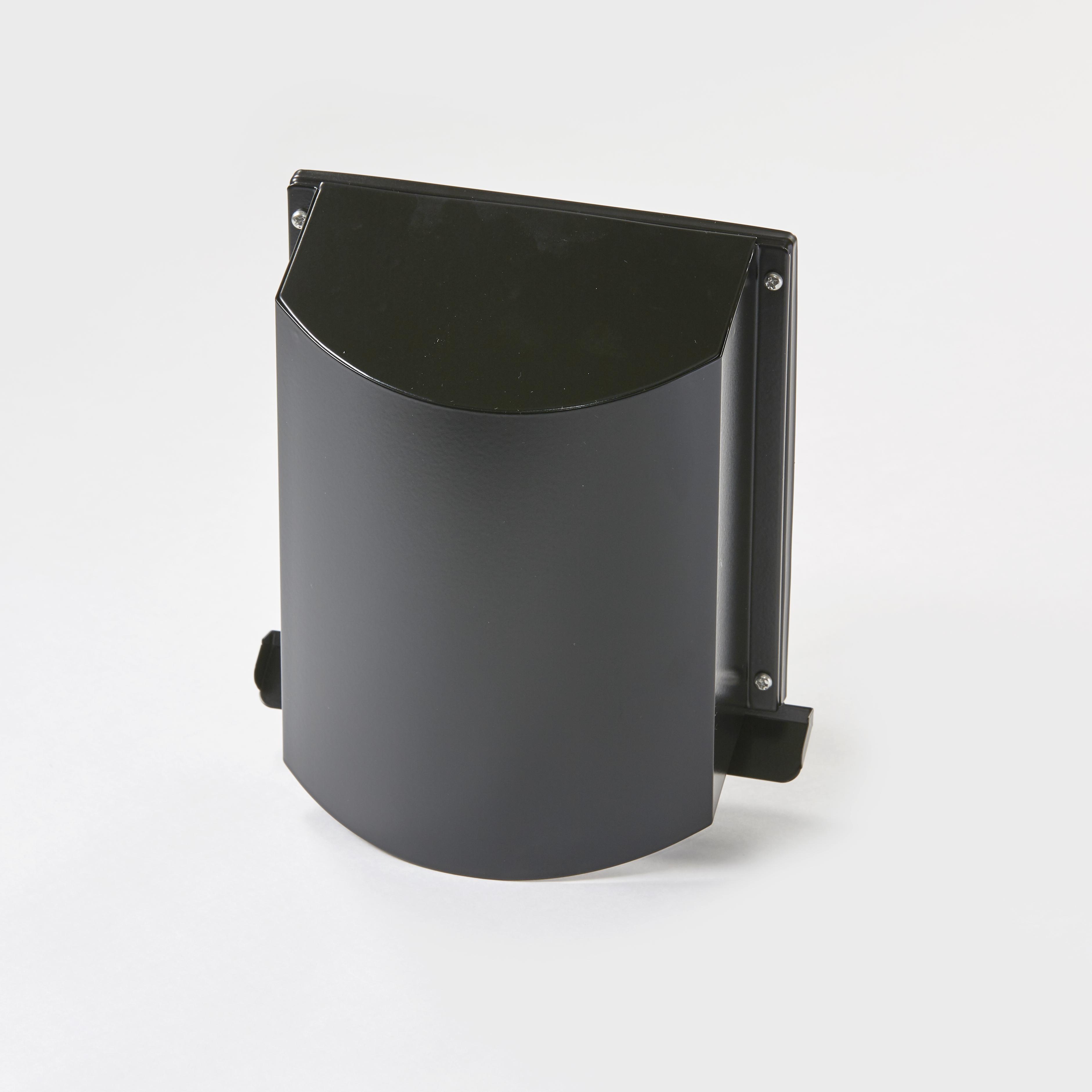 角型寒冷地用デザインフード ブラック