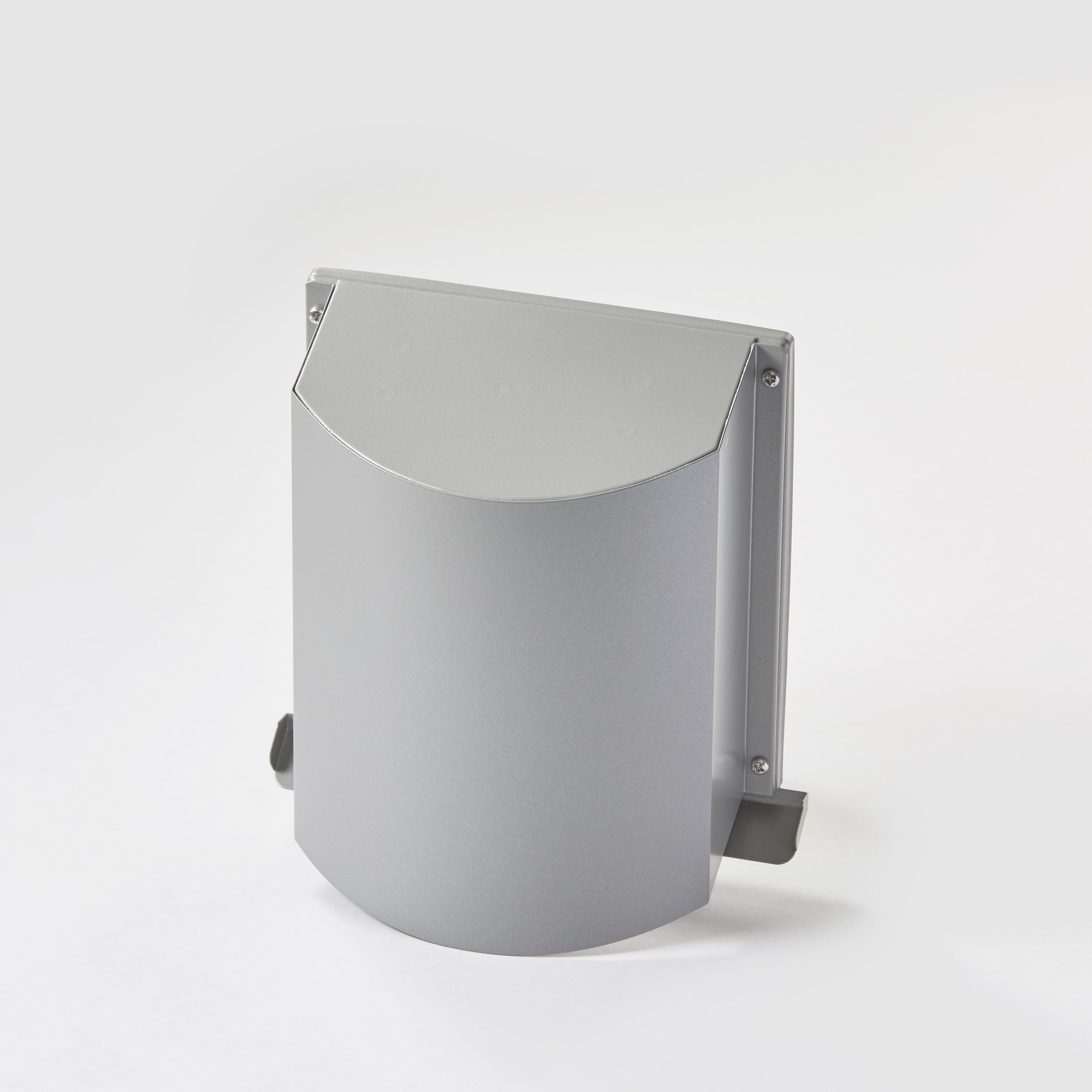 角型寒冷地用デザインフード シルバーメタリック