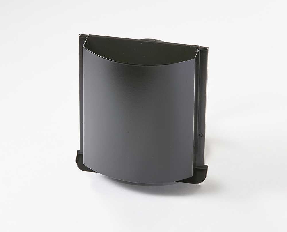 角型デザインフード ブラック