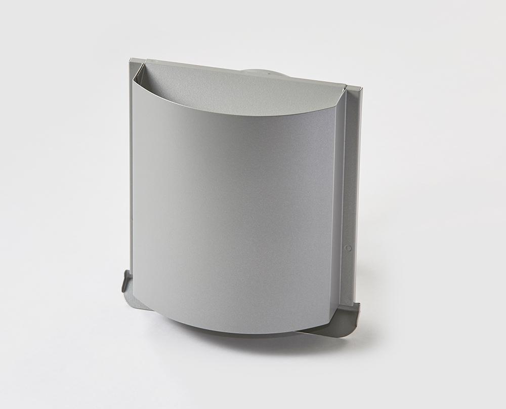 角型デザインフード シルバーメタリック